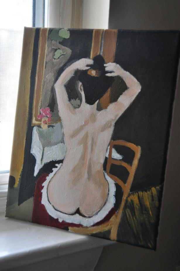 """My copy of """"La Coiffure"""" by Henri Matisse"""